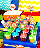 TRAIN Party- Train Decorations- CUPCAKE TOPPERS - Train Birthday- Boy Train Birthday- Train Party Printables - INSTANT DOWNLOAD