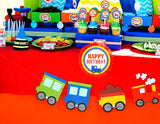 TRAIN Birthday Party - Train BANNER - Train Party Printables -Train