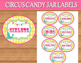 Circus INVITATION - Carnival Party - Bright Circus Party- Girly Circus- CIRCUS PARTY