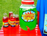 SUPERHERO Party- COMIC BOOK Party- Superhero Birthday- Superhero POP BOTTLE