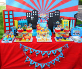 Superhero Party- COMIC Hero Party- Superhero Birthday-  BURSTS- Hero