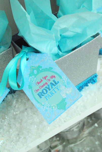 WINTER Party- Frozen- THANK YOU TAGS- Princess Birthday Party- Snowman