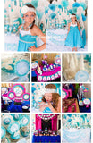 WINTER Party- Girl Birthday Party- Frozen- CUPCAKE TOPPERS- Snowflake- Shower- INSTANT Download