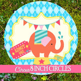 Circus Welcome SIGN- Carnival Party- Circus Party- Girly Circus- Bright Circus