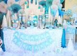 PRINCESS Party - BANNERS -GIRL Birthday Party -Frozen -Snowflake-Shower - INSTANT Download