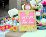 CORAL BRIDAL SHOWER- Coral and Gold- CORAL SIGNS- Peach
