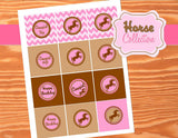 HORSE Party- CUPCAKE TOPPER- Horse Party- Cowgirl Party - Pink- Birthday