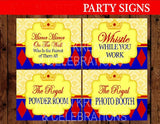 PRINCESS Party - Princess Birthday - Party SIGNS - Girl
