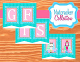 NUTCRACKER Birthday- Winter Birthday Party- Snowflake- Christmas- Nutcracker BANNER- Nutcracker Party