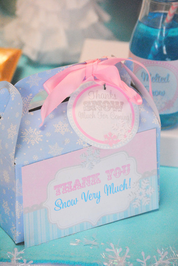WINTER Onederland Birthday Party- SNOWFLAKE Party- TAGS- First Birthday