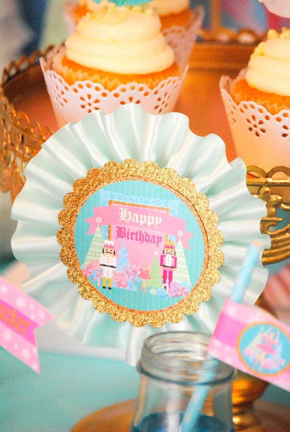 NUTCRACKER Birthday- Nutcracker Party- Ballerina Party- Winter Birthday Party- Snowflake- Nutcracker BURST