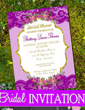 Pink and Gold - GAME CARDS - Wedding Game- Bridal Shower Invite