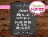 Chalk Board Bridal Shower SIGN - Wedding CHALKBOARD Sign- Chalk Sign
