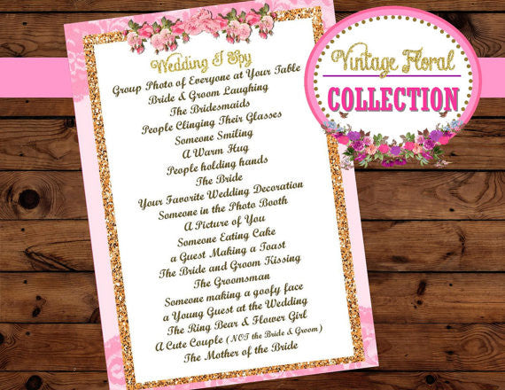 PINK WEDDING - Wedding SPY GAME - Bridal Game
