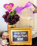 Purple BRIDAL SHOWER- Purple BANNER- Purple Printables- Purple Wedding- Gold Party