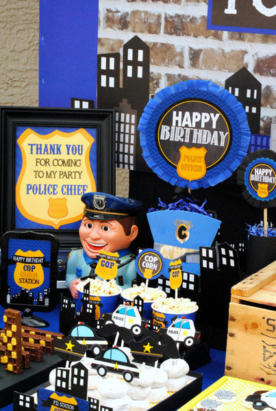 Police Party Police Banner Policeman Birthday Officer