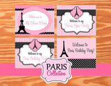 PARIS Birthday Party- Paris SIGNS- Poodle- Paris Party