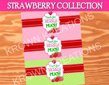 STRAWBERRY Party - Strawberry- FAVOR BOX LABELS- Girl