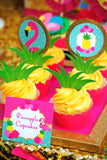 FLAMINGO Party- Flamingo Birthday- Luau Party -Hawaiian Luau- Pineapple THANK YOU TAGS