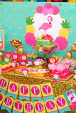 FLAMINGO Party- Flamingo Birthday- Pineapple- Luau Party- Flamingo FLOWERS- Flamingo Printables