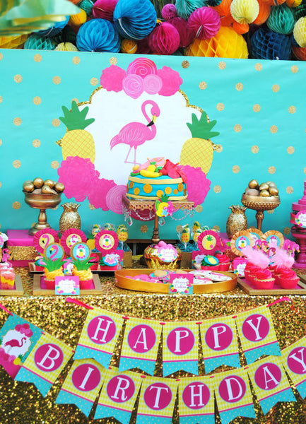 FLAMINGO Party- Flamingo- Luau- Flamingo BACKDROP