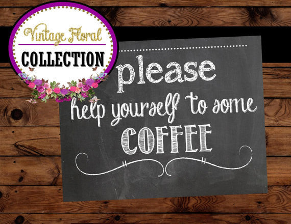 Bridal Shower SIGN - COFFEE SIGN - Chalkboard Sign- Chalk Sign