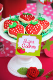STRAWBERRY Party - Strawberry STRAW FLAGS - Berry Party
