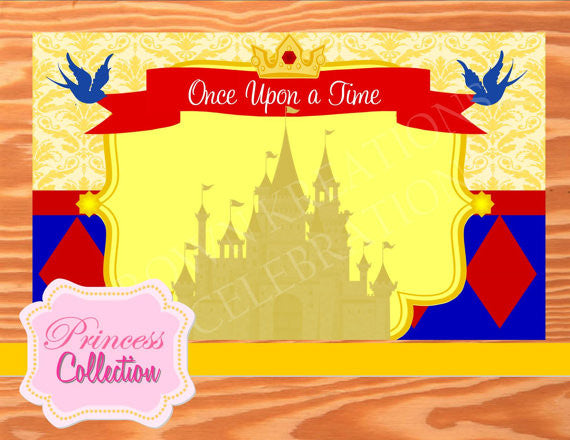 SNOW WHITE PARTY- PRINCESS Party - Princess BACKDROP - Princess Birthday Party