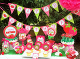 STRAWBERRY Birthday Party- Strawberry THANK YOU TAGS- Strawberry