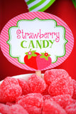 STRAWBERRY Party- Strawberry STRAW FLAGS- Berry Party