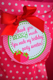 STRAWBERRY Party- Strawberry Birthday- FOOD LABELS