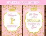 PRINCESS Birthday - Sparkle WELCOME BANNER - Sparkle Party
