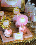 PRINCESS Party - Sparkle NAPKIN RINGS - She Leaves SPARKLES- Pink