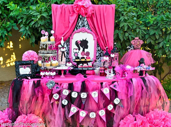 Fashion Diva- Glamour Party- Fashion Party- Pink- Doll Birthday Party- COMPLETE- Boutique