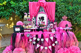 Fashion Diva Personalized COMPLETE - Glamour Party - Fashion Party - Girls Birthday Party- Pink - Doll Birthday Party- Boutique
