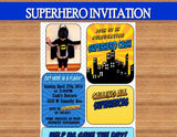 SUPERHERO Party- COMIC Hero Party- Superhero- Comic INVITATION- Superhero Birthday Party- Superhero Invitation