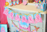 PINK PRINCESS Party - SIGNS- Girls Birthday Party - Pink - Printables - INSTANT Download