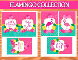 FLAMINGO Party- Flamingo Printables- Luau Party- Hawaiian Luau Party- Pineapple- Flamingo SIGN