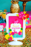 FLAMINGO Party- Flamingo Printables- Luau Party- TIKI Sign- Flamingo Birthday- Pineapple- Flamingo SIGN
