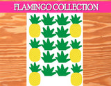 FLAMINGO Party- Flamingo Birthday- Pineapple- Luau Party- PINEAPPLE TOPPERS- Flamingo Printables
