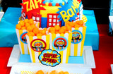 SUPERHERO Party - Comic Happy Birthday BANNER - Comic Party - Superhero Birthday Party