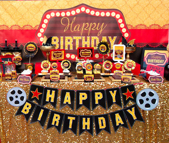 Hollywood PARTY - Movie Birthday - Movie Theater Party- Cinema Party- Red Carpet Party - Glamor Party