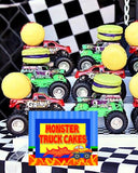 MONSTER Truck - Monster Truck THANK YOU TAGS - Truck- Monster Truck Party- Decorations