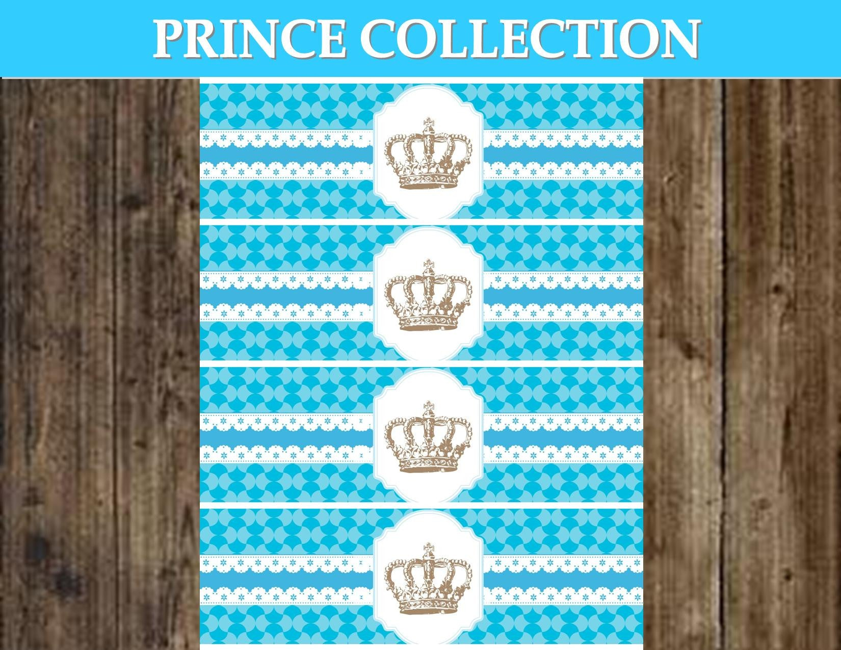 Prince Baby Shower Prince Party Royal Prince Party Prince Bottle