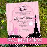 PARIS Birthday Party- Paris SPA PARTY- Spa Party- Paris