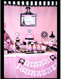 PARIS Birthday Party- Paris Party- SIGNS- Poodle- Pink