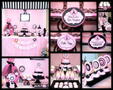 PARIS Birthday Party- Paris Party- COMPLETE- Poodle-Pink