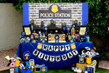 POLICE Party - Police BANNER - Policeman Birthday -Officer