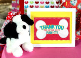 PUPPY PARTY - Dog Adoption Party - Puppy Birthday - Dog FAVOR Box Labels -Dog Party