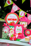 STRAWBERRY Party- Strawberry Birthday- BOTTLE LABELS